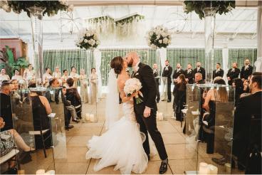 Bride and groom at a wedding on the Veranda